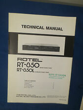 ROTEL RT-850 L TUNER TECHNICAL SERVICE MANUAL FACTORY ORIGINAL