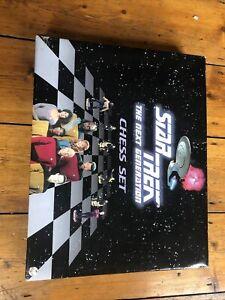 Vintage Star Trek The Next Generation Chess Set 1999