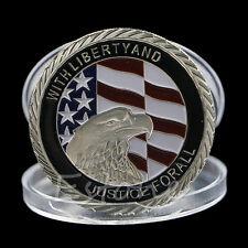 9/11 WORLD TRADE CENTRE AMERICAN FLAG EAGLE JUSTICE COMMEMORATIVE SILVER COIN