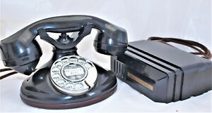 1930s TELEPHONE AMERICAN FULLY RESTORED bakelite ART DECO RARE WITH RINGER  BOX