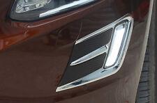 Fit For VOLVO XC60 2014-2015 black+silver Chrome Front fog light cover Trim 2pcs