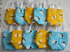 Lot of 10 BUMBLE BEE MINI Gift Bags Birthday Spring Teacher School Candy Card