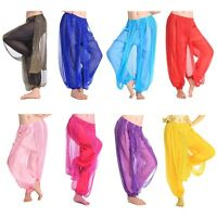 8 X Wholesale Lot Women Belly Dance Costume Shinny Bloomers Trousers Harem Pants