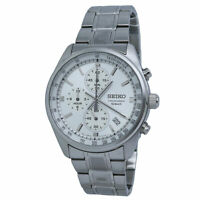 Seiko Chronograph Silver Dial Stainless Steel Men's Watch SSB375