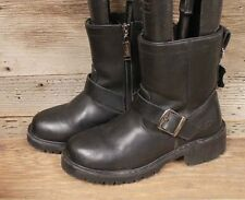 ADTEC WOMENS LEATHER SIDE ZIP ENGINEER ANKLE BOOTS SZ 9
