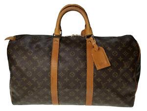 Louis Vuitton LV Monogram Keepall 50 M41426 Travel Bag Used 7-37-A24