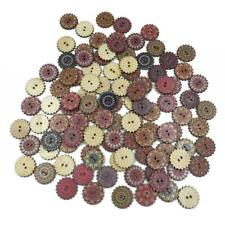 Retro Gear Wooden Sewing Buttons 2 Holes DIY Clothes Knitting Bags Decor