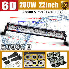 6D+ CREE 22Inch 200W LED Work Light Bar Flood Spot Combo Beam For Ford Jeep 20""