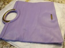 "MICHAEL KORS ""VIRGINA"" FOLD OVER TOTE-VIOLET-GENUINE LEATHER-NWT-RET. $795"