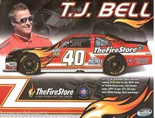 2013 TJ BELL #40 THE FIRE STORE HERO ENERGY NASCAR NATIONWIDE SERIES POSTCARD