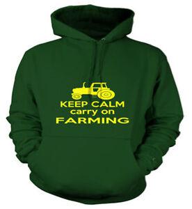 Keep Calm Carry On Farming, Work Wear Hoody, Custom Printed Hoodies, S - XXL
