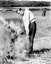 Henry Cotton at St. Andrews blasting from sand - 1940's golf photo