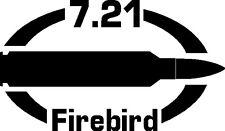 7.21 Firebird gun Rifle Ammunition Bullet exterior oval decal sticker car wall