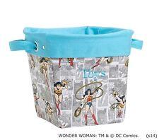 Pottery Barn Kids WONDER WOMAN Canvas Storage Bin Bucket MEDIUM PBK No Monogram