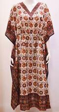PLUS SIZE ETHNIC PAISLEY FLORAL ABSTRACT PRINT LONG KAFTAN DRESS BLACK