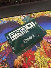 New listing Radial Engineering ProDi Passive Instrument Direct Box Bass/Guitar/Synth Pro Di