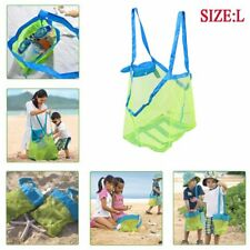 Beach Net Bags Portable Sand Away Shoulder Mesh Bag Tote Kids Object Toy Storage