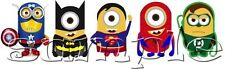 IRON ON TRANSFER MINIONS superhero batman superman spiderman captain america
