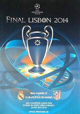 off. Programm UEFA CL Finale 2014 Real Madrid - Atletico Madrid