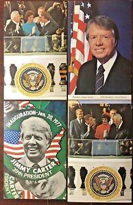 Vintage Lot of 4 US President Jimmy Carter Postcards