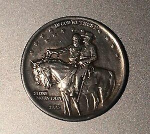 V.F. 1925 STONE MOUNTAIN COMMEMORATIVE SILVER HALF DOLLAR COIN - 1ST BID CAN WIN