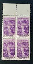 US Stamps, Scott #774 3c Top Blk of 4 Dedication of Boulder Dam 1935 XF M/NH