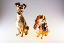Disney Vintage Lady and The Tramp Porcelain Ceramic Figurine Set Made in Japan
