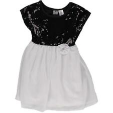 Pogo Club Girls B/W Sequined Party Special Occasion Dress S 4