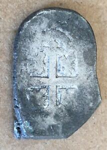 1600s Spanish Spain 4 Reales Real Cob Silver Coin Colonial Treasure 13.3 (MJ020)
