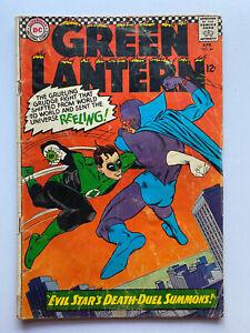 Green Lantern #44 (DC, April 1966) Evil Stars Death Duel - Lower Grade