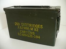 US Army Military Green Metal M82 (M19A1) Ammo Ammunition Cartridge Box