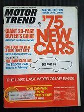 Motor Trend Oct 1974 Jaguar XKE-12 - 1975 Buyers Guide - Maverick Motorcycles