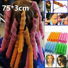 Large Hair Rollers Tool Girl Plastic Styling Curlers Hairdressing Clamp 75CM Set