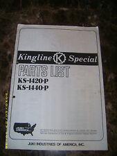 original Parts List for JUKI Kingline Special KS-1420-P KS-1440-P sewing machine