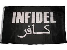 3'x5' Infidel Flag Wat Vet USA Iraq Afghanistan Veteran Arabic And English 3X5