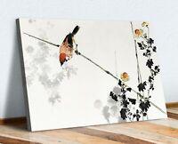 Japanese Swallow Bird Branches CANVAS WALL ART PRINT ARTWORK 30MM DEEP FRAMED