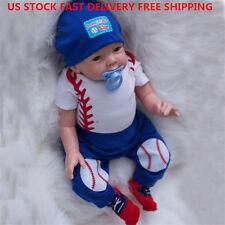 "US 22"" Reborn Baby Dolls Realistic Newborn Lifelike Vinyl Boy Doll Handmade Gift"