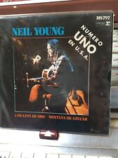 "NEIL YOUNG Heart Of Gold /Sugar mountain 1972 Spanish  7"" VINYL picture"
