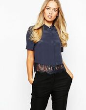 Silk Collared Casual Tops & Shirts for Women