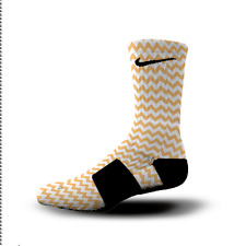 Custom Nike Elite Socks All Sizes CHEVRON ORANGE