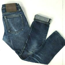 Unbranded UB121 Broken-In 21oz Denim Selvedge Jeans 28 x 29 True Fit Skinny