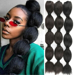 Hair Extensions Kinky Straight Hair Bubble Ponytail Drawstring Afro Puff