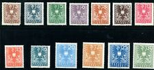 """1945 Austria Stamps. Two Complete Sets Unc Nh & Lh Sc#432-454 """"Coat of Arms"""""""