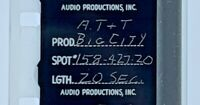 Advertising 16mm Film Reel - AT&T #158-420 BIG CITY 20 Sec (AT07)