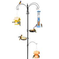 Station Hanging Bird Feeder pole Stand Feeders Mental Wild Squirrel Feeding