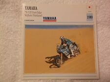 1989 YAMAHA 750 YZE PARIS-DAKAR , STEPHANE PETERHANSEL   COLLECTOR CARD