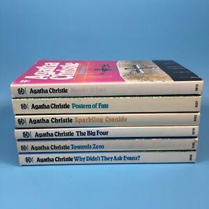 Agatha Christie 6 Book Collection Vintage Fontana Paperback Set