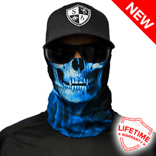 SA COMPANY Face Mask Bandana Motorbike Cycling Hiking Fishing Skiing Blue Skull
