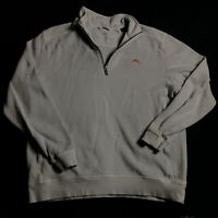 Tommy Bahama 1/4 Zip Pullover Cotton Men's Size Large Sweater Sky Blue