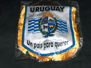 "URUGUAY FIFA World Cup Soccer Mini 8"" X 7"" Hang Team Futbol Flag Banner wTassels"